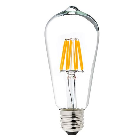 Led Light Bulb Lumens St18 Led Filament Bulb 60 Watt Equivalent Led Vintage Light Bulb Dimmable 700 Lumens