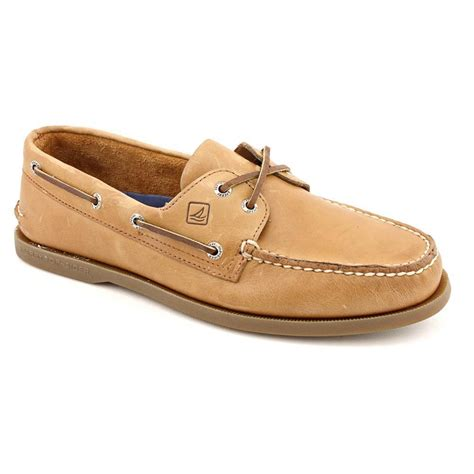 sperry shoes sperry mens a o 2 eye boat shoes brown leather ebay