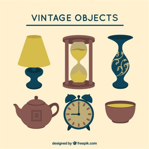 decorative objects vintage decorative objects vector free download