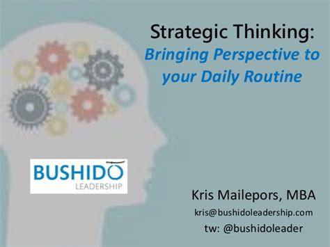 Strategic Thinking Mba Candidate strategic thinking