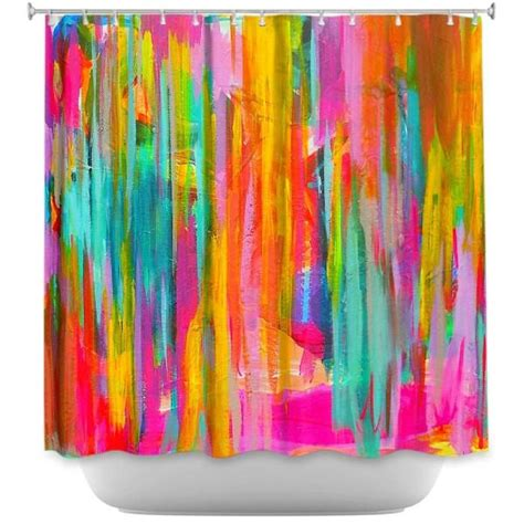 neon curtains shower curtain trends neon colors brighten small bathroom