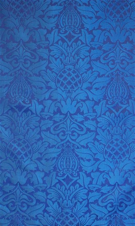 Blue Damask Upholstery Fabric by Fairford Blue Damask Fabric Traditional Fabric