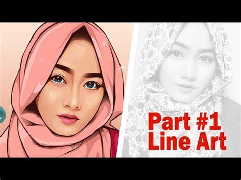 tutorial vector line art coreldraw vector vexel portrait tutorial part 1 line art youtube