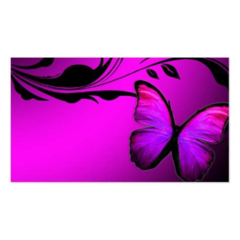 butterfly name card template 311 lustrous butterfly pink purple name card