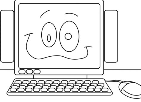 Coloring Pages On The Computer Computer Coloring Pages Coloringpages1001 Com