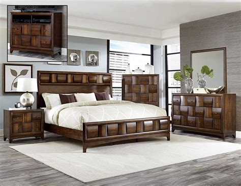 home furniture bedroom sets homelegance porter bedroom set warm walnut 1852 bedroom