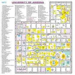 u of arizona cus map the of arizona maplets