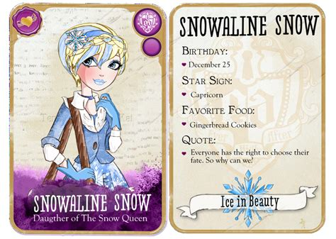 ever after high coloring pages cards eah snowaline snow card by spiritdodd on deviantart