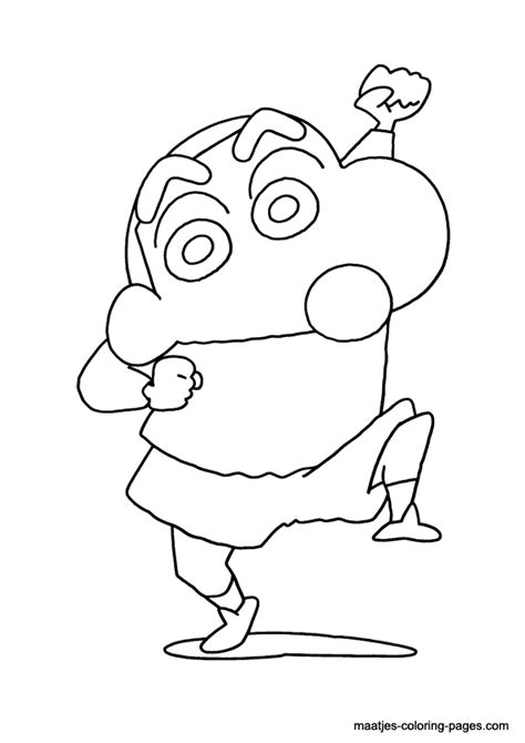 shin chan coloring page
