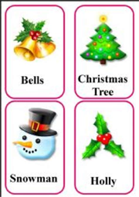 printable christmas flash cards english teaching worksheets christmas flashcards