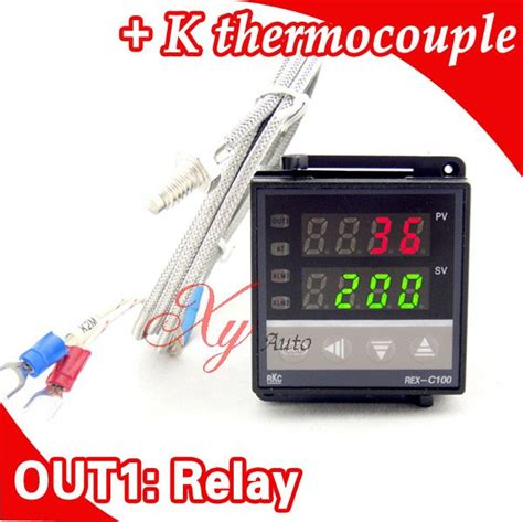 aliexpress buy dual digital rkc pid temperature controller rex c100 with thermocouple k
