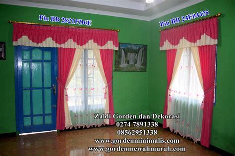 Gorden Casilas Poni Renda Murah jual gorden murah harga promosi untuk lebaran gorden minimalis dan gorden model poni model