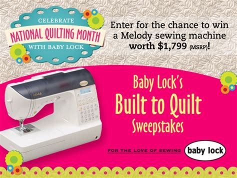 Babylock Sweepstakes - happy national quilting month totally stitchin