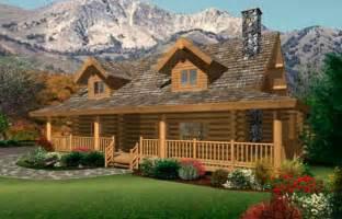 Log Cabin House Plans single story log cabin house plans