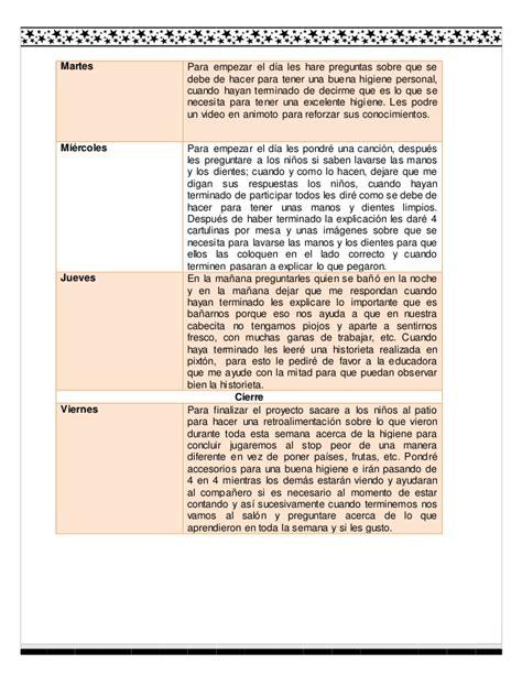 preguntas sobre objetivos personales justificaci 243 n de la higiene
