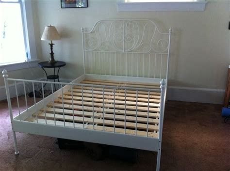 Ikea White Iron Bed Frame Ikea Leirvik Slatted Bed Frame White 120 Was 220 New Luxton And Sell All Their