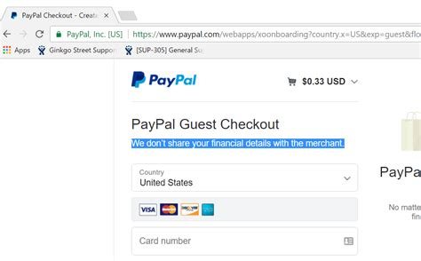 when paypal standard pay as guest no paypal account
