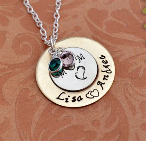 Handmade Personalized Jewelry - personalized s day necklace sted jewelry