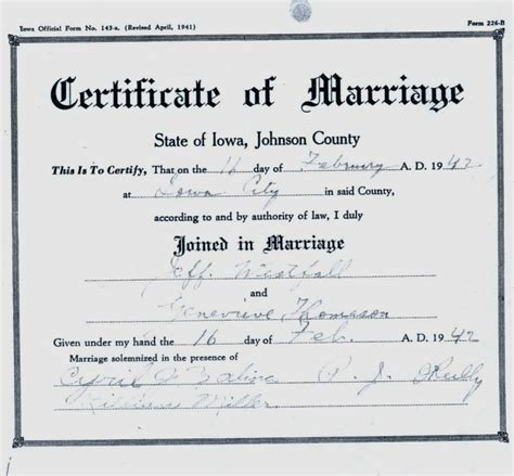 Iowa Marriage License Records Johnson County Marriage License Index