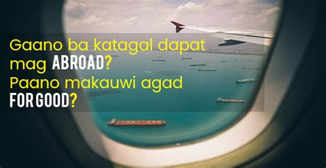 how many years should you work abroad financial expert answers that question here kwentong ofw