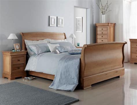 oak sleigh bed nancy high footend oak sleigh bed double king super