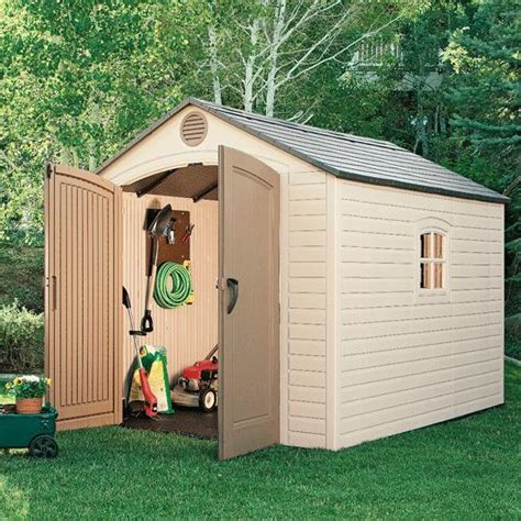 lifetime 174 outdoor storage shed with windows 8 x 10