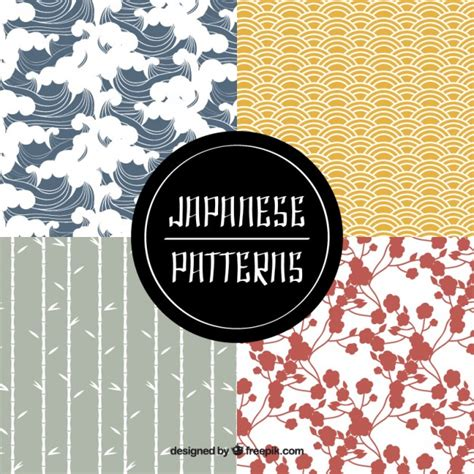 japanese pattern ai download pack of cute japanese patterns vector free download