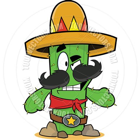cartoon sombrero cactus cartoon with sombrero www pixshark com images