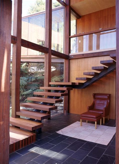 Zen House Stairs Design 18 Stylish Wood Staircase Designs For Rustic Interior