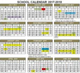 Calendar Printable 2017 18 Calendar 18