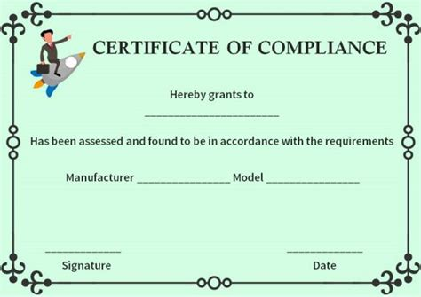 16 Downloadable And Printable Certificate Of Compliance Templates Demplates Reach Certificate Template