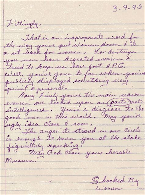 letters to letters to the museum of menstruation