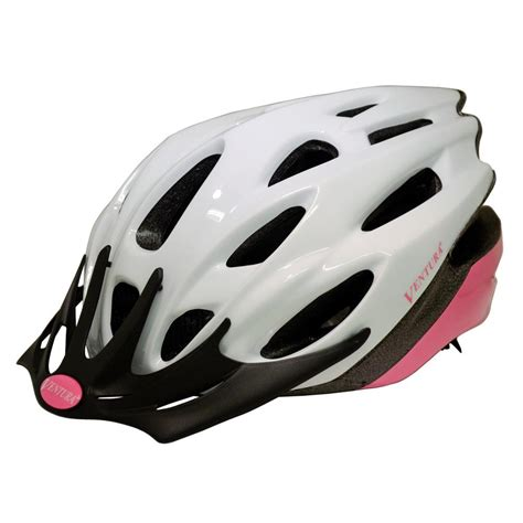 ventura white pink in mold helmet in size m 54 58 cm