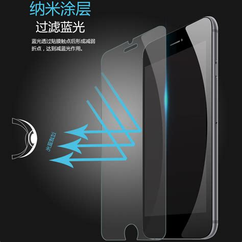 Iphone 7 Plus Anti Tempered Glass Curved Edge 9h T1910 zilla 2 5d anti blue light tempered glass curved edge 9h