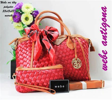 Tas Wanita Fashion Lv Pink Fanta tas webe antigona ori polyester merah harga murah