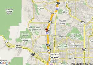 map of 8 motel colorado springs colorado springs