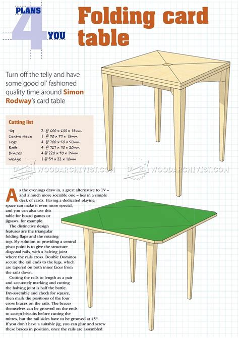 how to make a card table folding card table plans woodarchivist