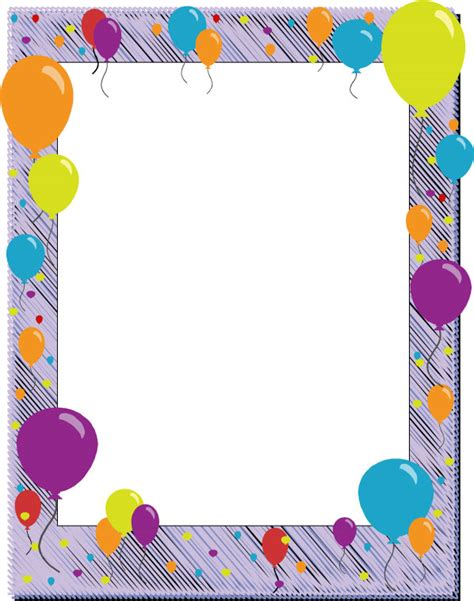 Free Printable Page Borders Clipart For Word Or Web Free Printable Birthday Borders And Frames