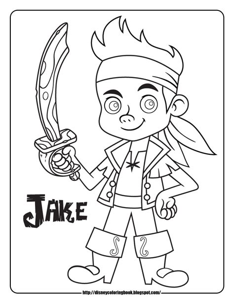 Jake And The Neverland Coloring Pages Printable jake and the neverland 1 free disney coloring