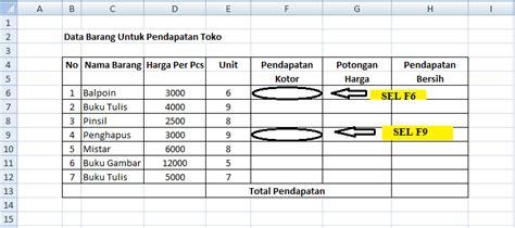 tutorial membuat tabel menggunakan html membuat tabel di excel dengan menggunakan rumus