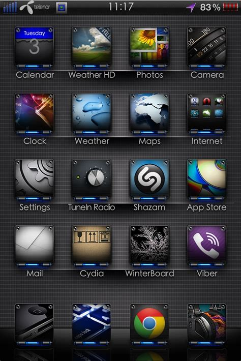 themes for iphone 5s winterboard image gallery jailbreak themes