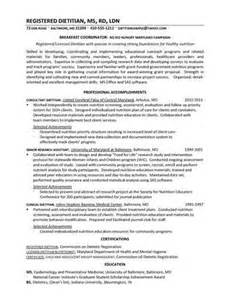here are the guidelines to create a nutritionist resume