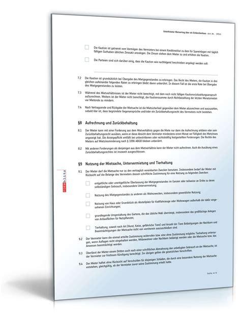 Muster Kündigung Mietvertrag Wien Mietvertrag 252 Ber Ein Einfamilienhaus Muster Zum