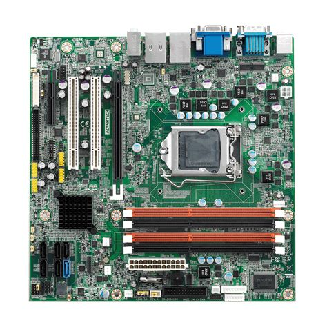 Vga Intel I7 industrial grade graphics microatx board with vga dvi lvds 6 dual lan ddr3 and sata3