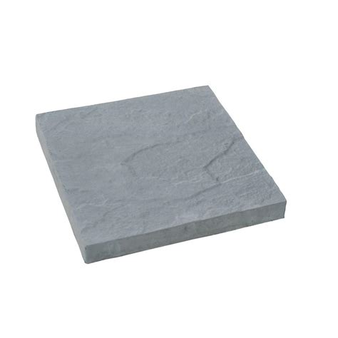 18 Inch Patio Pavers Nantucket Pavers 12 Ft X 12 Ft Concrete Gray Traditional Yorkstone Paver 31241 The Home Depot
