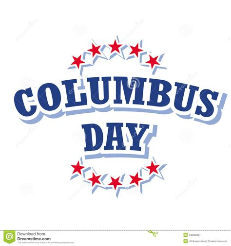 day logo free columbus day logo stock vector image of logo card