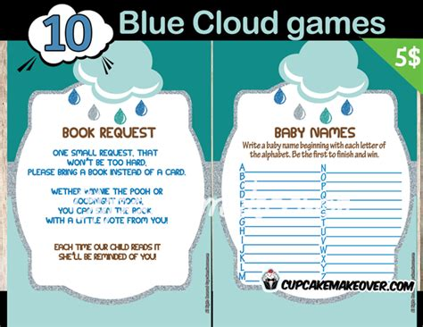 blue themed games book themed baby shower games images