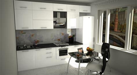 cuisine high tech visualisation 3d cuisine en style high tech dans le style