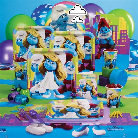 smurfs theme decorations smurfs supplies 73894 smurfs