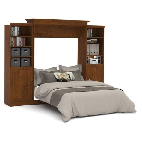 bestar wall bed bestar versatile 115 queen wall bed with 2 piece 2 door